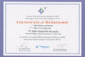 Sertifikat of Membership APBI